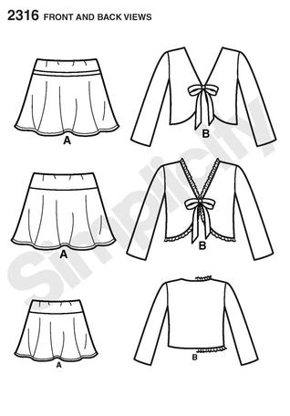 Simplicity 2316 It S So Easy Child S Jacket Skirt