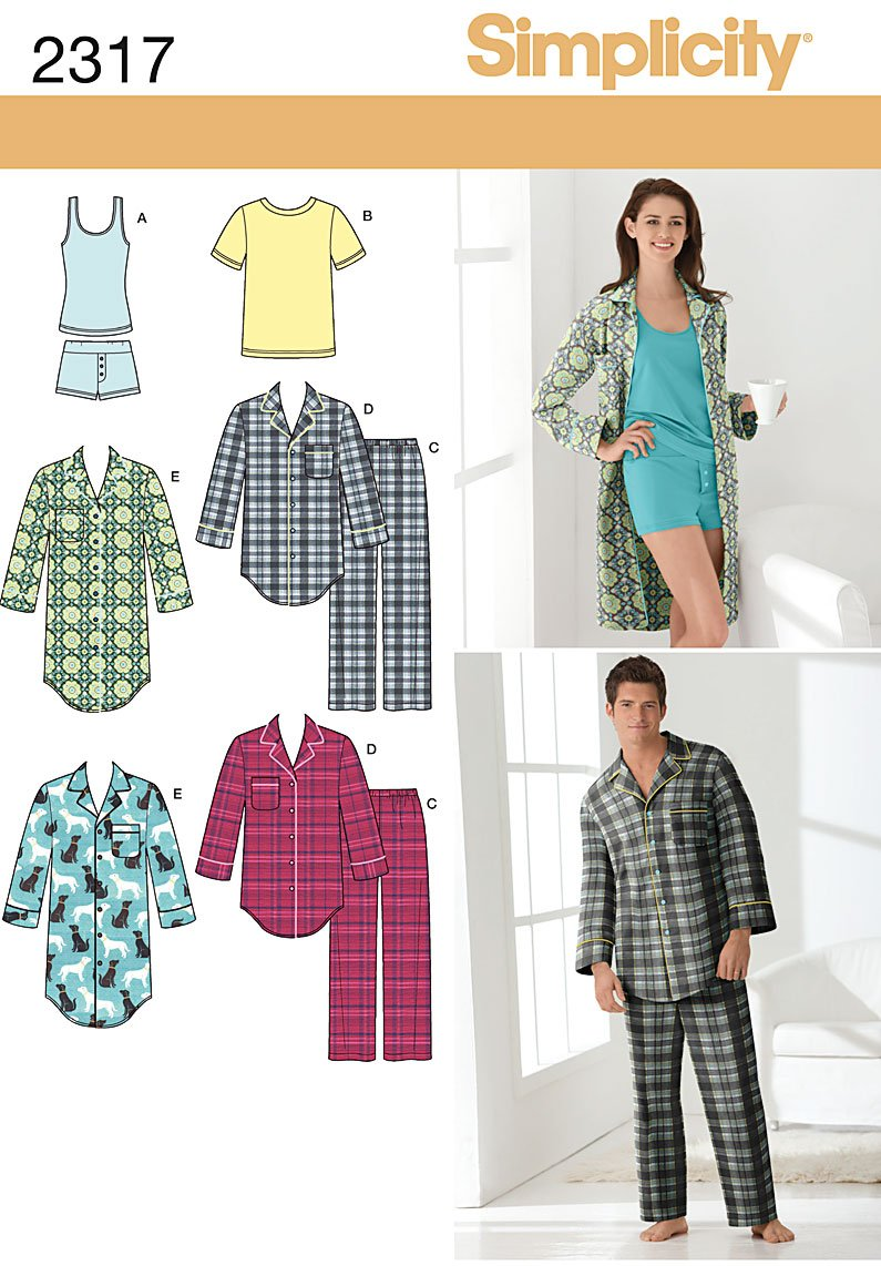 Simplicity Pajama Patterns Best Decorating Design