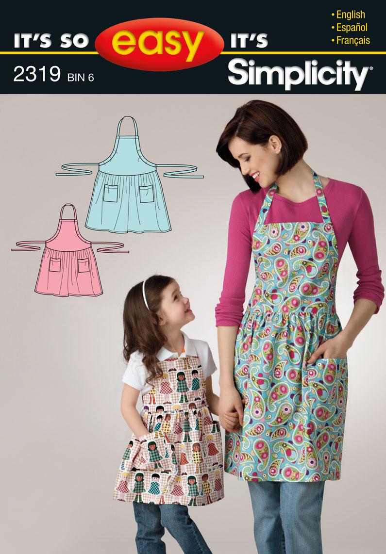 Simplicity 2319 It's So Easy Misses' & Child's Apron