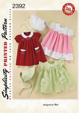 Simplicity 2392 Babies 1950 S Vintage Layette