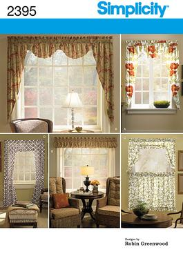 Simplicity 2395 home d cor window treatments for Professional window treatment patterns