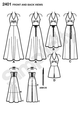 Simplicity 2401 Misses Special Occasion Dresses