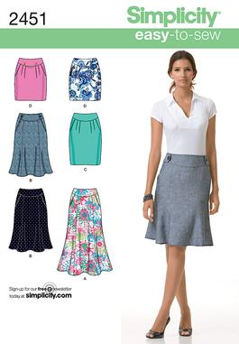Simplicity 2451 Misses Skirts