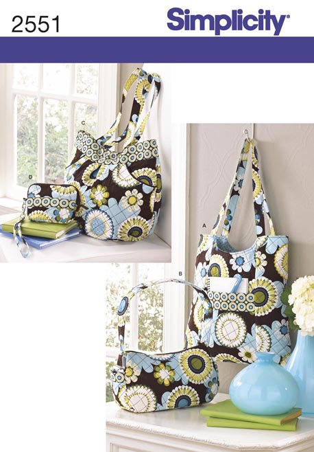 Simplicity 2551 Quilted Bags In Four Sizes