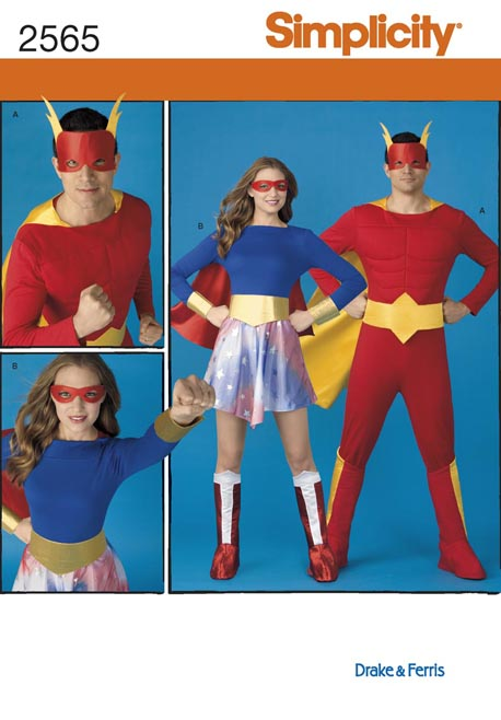 PrevNext. Misses and Men Super Hero Costumes  sc 1 st  Sewing Pattern Review & Simplicity 2565 Misses and Men Super Hero Costumes