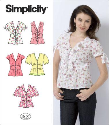 Simplicity 2601 Misses Blouses