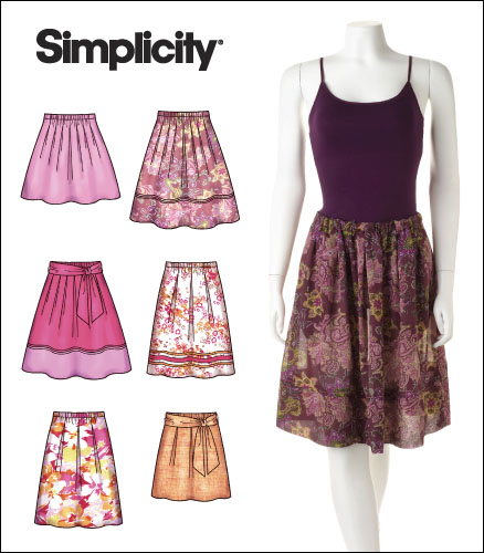 Simplicity 40 Misses Pullon Pleated Skirts Tie Belt Magnificent Pleated Skirt Pattern