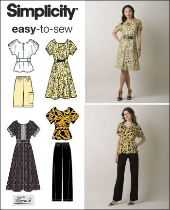 Simplicity 2615 Misses or Plus Size Pullover Dress, Top and Pants ...