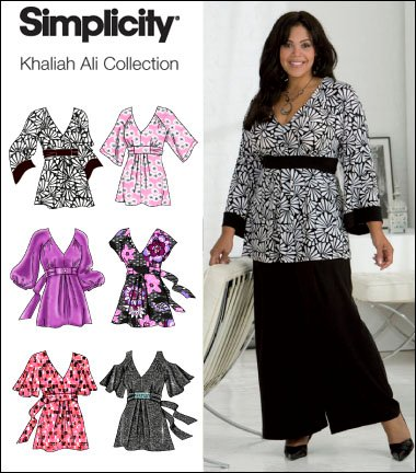 Simplicity 2634 Plus Size Pullover Tunic / Tops Khaliah Ali Collection