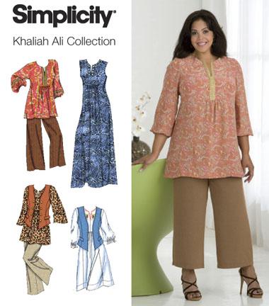 Simplicity 2635 Plus Size & Plus Size Petite Dress, Tunic Pants & Vest  Khaliah Ali