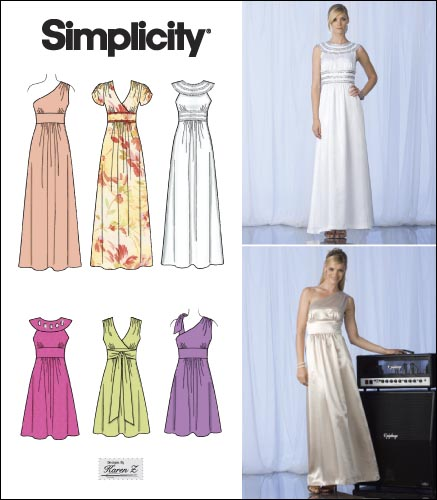 Simplicity 2692 misses special occasion dresses for Wedding dress patterns online