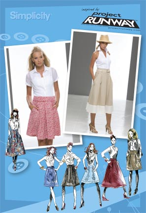 Simplicity 2698 Misses Skirts Project Runway Collection