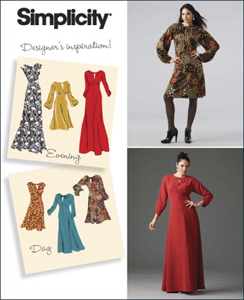 Simplicity 2801 Misses Day Or Evening Dresses