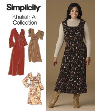 Simplicity 2840 Plus Size Knit Dresses Khaliah Ali Collection