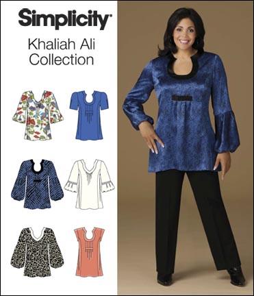de652b494263b6 Simplicity 2841 Plus Size Tops Khaliah Ali Collection