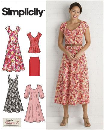 Simplicity 2917 Misses Plus Size Dresses