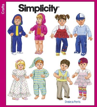 Simplicity 3517 15 inch Doll Clothes