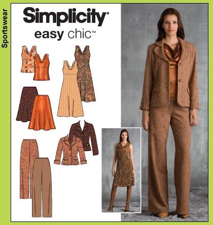 Simplicity 3566 Simplicity easy chic
