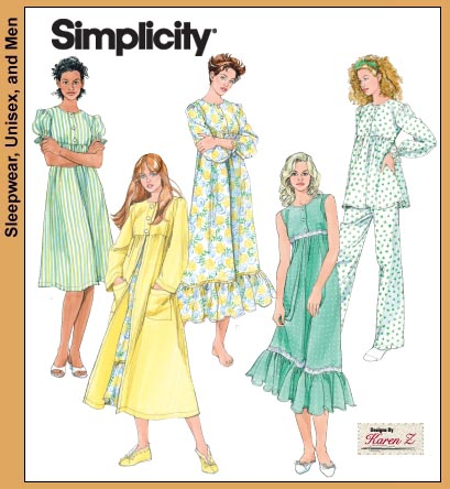Old fashioned nightgown pattern