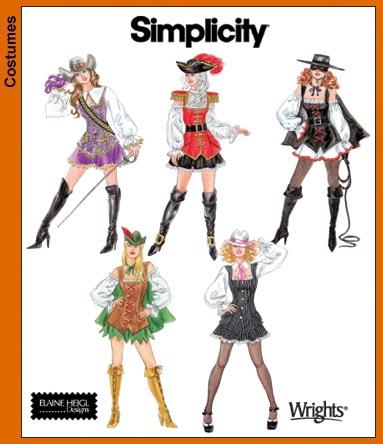 Simplicity 3629 Misses Costumes