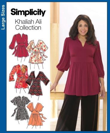 Simplicity 3697 K Ali Woven Tunic Top