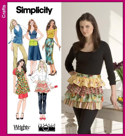Simplicity 40 Misses Aprons Magnificent Simplicity Apron Patterns
