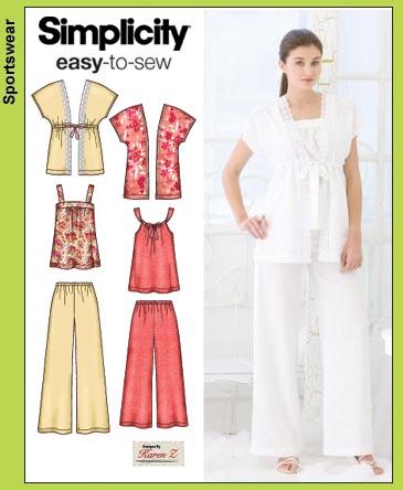 Simplicity 3760 pants, tops & kimono top