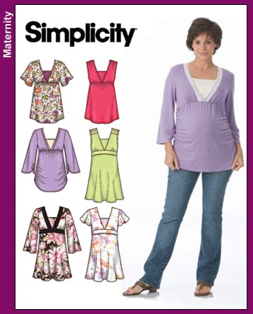 Simplicity 3762 Maternity Woven Top
