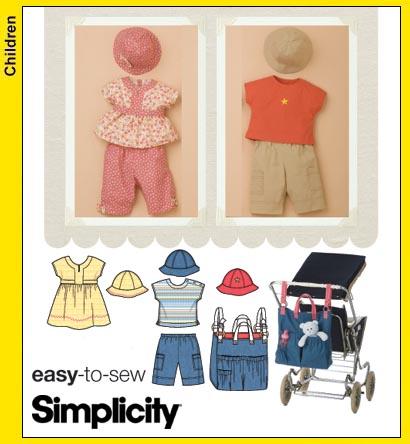 Simplicity Sewing Pattern 3765 Babies Dress Top Pants Stroller Bag Size XXS-L