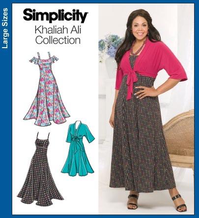 Simplicity 3769 Khaliah Ali Dress Shrug