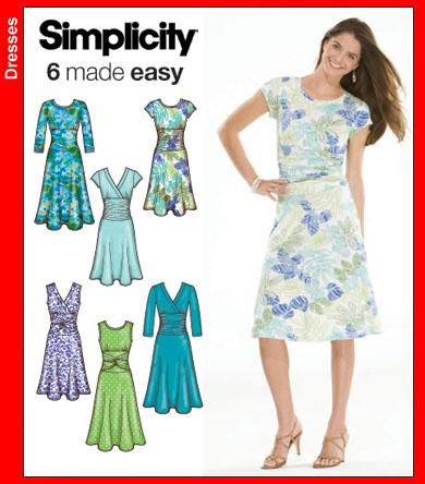 Simplicity 3775 Misses Knit Dresses