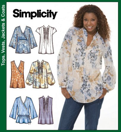 Simplicity 3786 Misses Tops