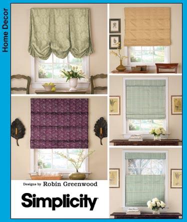Simplicity 3910 Roman Shades