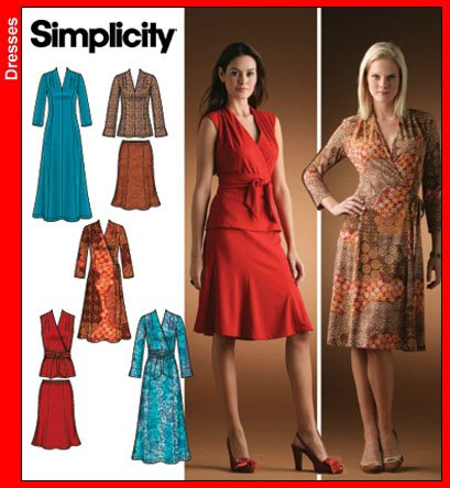 Simplicity 4074 Knit dress/top and skirt