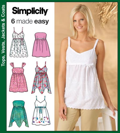 Simplicity 4127 Misses Tops