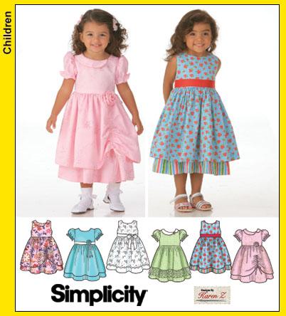 Simplicity 40 Toddler Dresses Extraordinary Toddler Dress Patterns