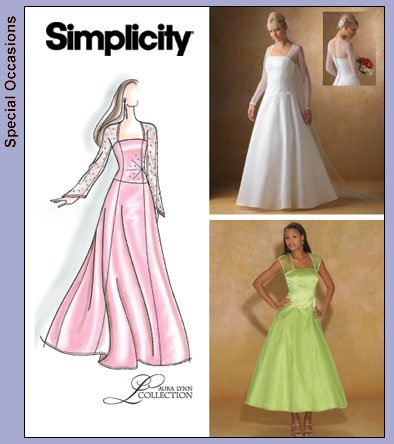 Simplicity 4258 Bridal gown