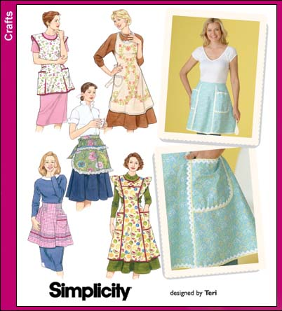 Simplicity 40 Misses Aprons Interesting Simplicity Apron Patterns