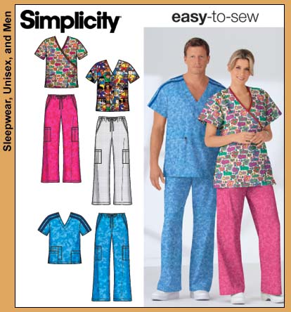 Simplicity 40 Scrub Top And Pants Stunning Scrub Top Patterns