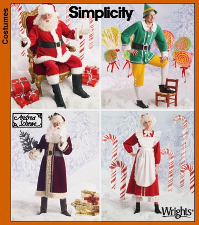 Simplicity 4393 Santa And Elf Costumes