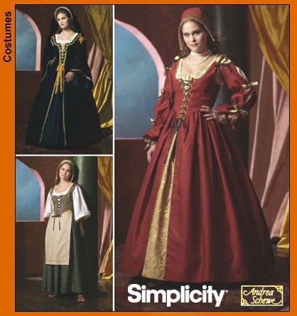 simplicity 4488 misses renaissance costumes