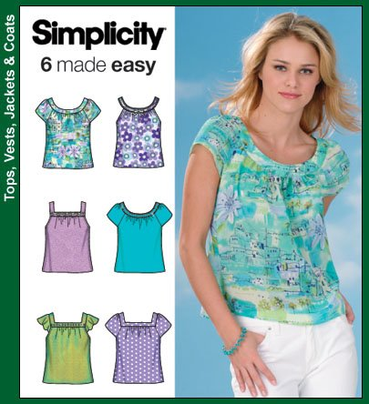 Simplicity 4589 Misses Tops