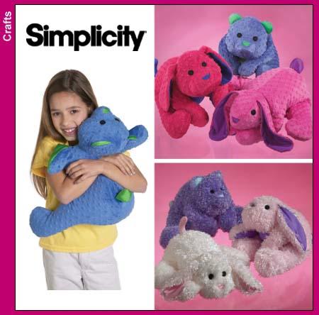 Free Stuffed Animal Pillow Patterns : Simplicity 4591