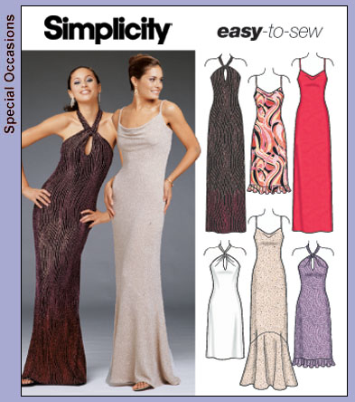 Simplicity 5093 Easy To Sew Evening Wear
