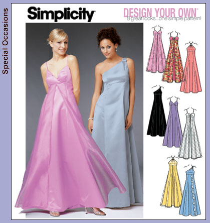 Simplicity 5096 Formal dress, Design your own
