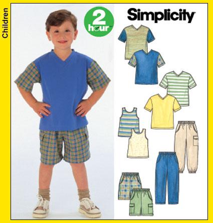 Simplicity 5170 Pantsshortsknit Toptank Top