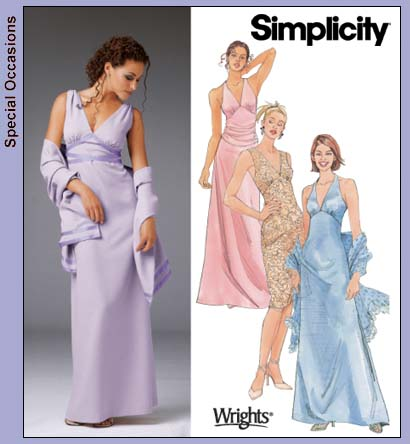 Simplicity 5187 Misses Evening Dress