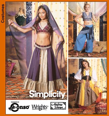 Simplicity 5357 kid\'s costume-belly dancer