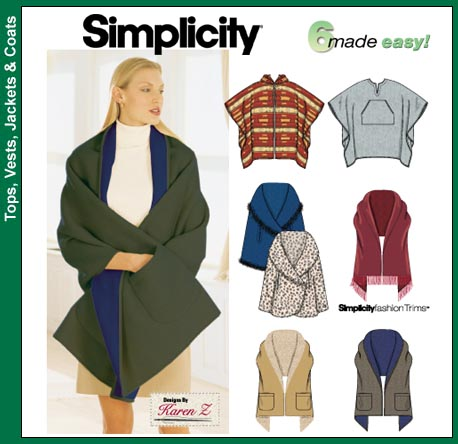 Simplicity 5424 Square Poncho