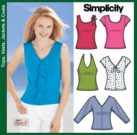 Simplicity 5502 Misses Knit Tops